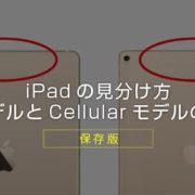 【保存版】iPadのセルラーモデルとWi-Fiモデルとは? 違いや見分け方を解説! 買うならどっち?